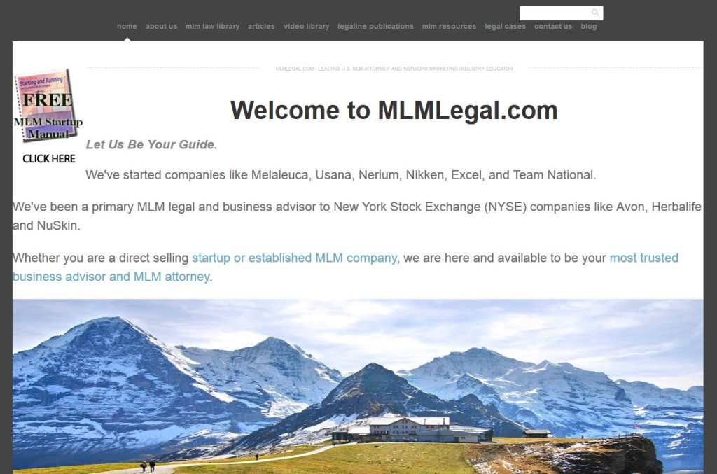New MLMLegal.com Homepage