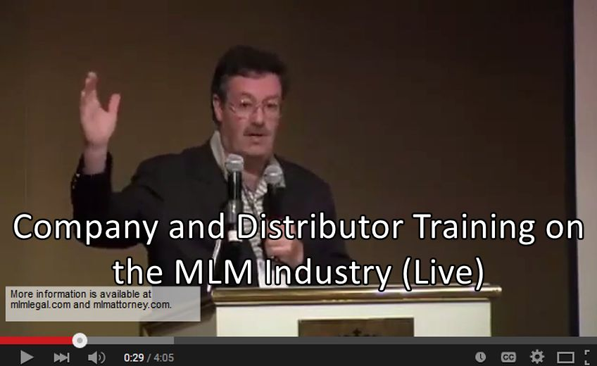 MLM Company and Distributor Training Session (Live)