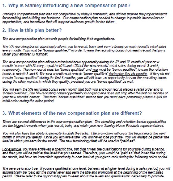 sales compensation plan examples